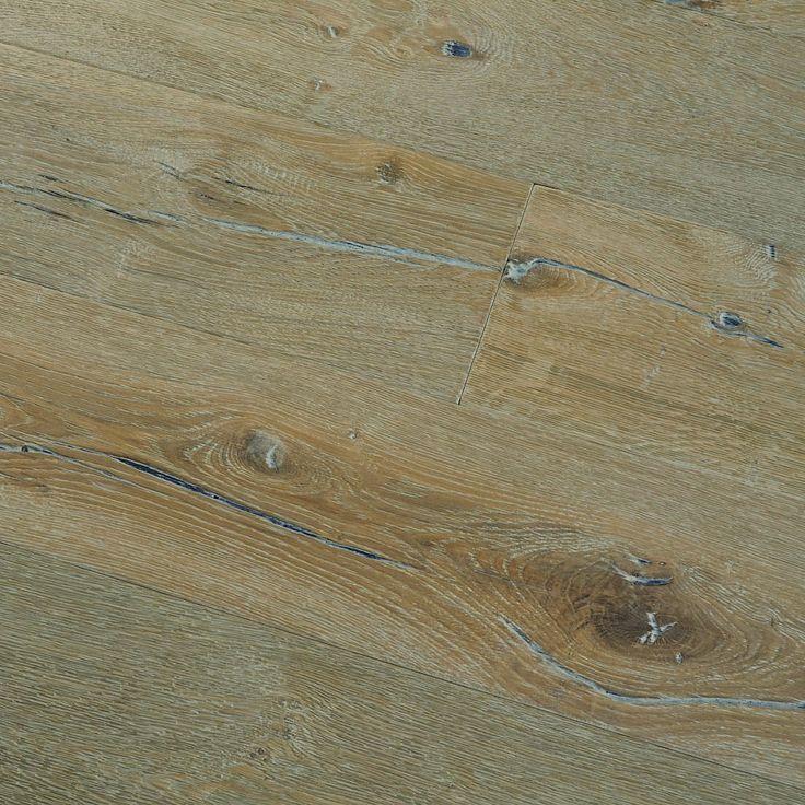 Deep Brushed Alpine Oak Engineered Wood Floor Grand Plank