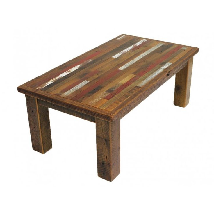 Tartan Multi Colored Barnwood Coffee Table Rustic Living