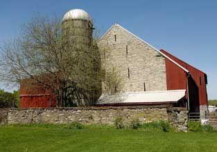 Stone Barn And Silo Daniel Boone Homestead Berks County