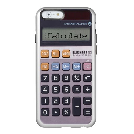 Vintage Retro Calculator iCalculate iPhone 6 Case by KittyBitty