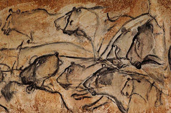 Grotte ornée du Pont d'Arc, dite grotte Chauvet-Pont d'Arc, Ardèche. la grotte recèle les plus anciennes peintures connues à ce jour (période de l'Aurignacien : entre 30 000 et 32 000 avant J.-C.). Cette grotte exceptionnelle qui témoigne de l'art préhistorique a été fermée par un éboulement il y a environ 20 000 ans BP et elle est restée scellée jusqu'à sa redécouverte en 1994, ce qui a permis de la conserver de façon exceptionnelle. #unesco #whc