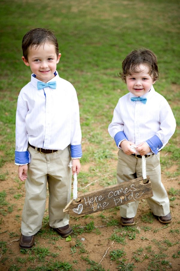 here comes the bride sign // pageboys // photography by Stella Uys