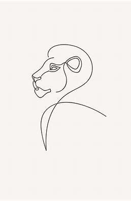 minimal line drawing lion – Bing images – Tattoos – #Bing #drawing #images #Line…