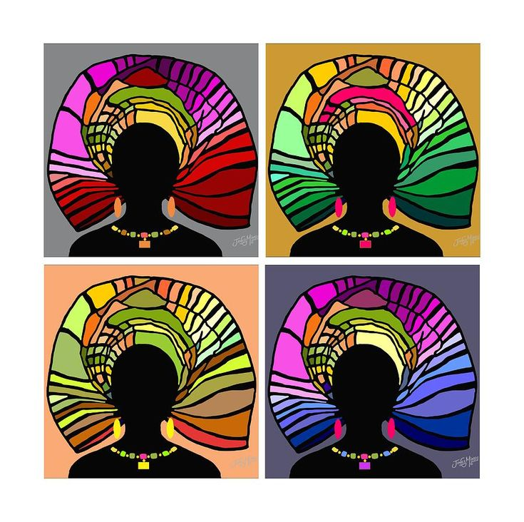 African Women Head Wrap 34 Digital Art by James  Mingo