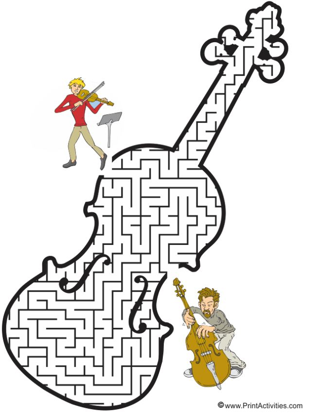 Violin Maze: Guide the violinist to the bassist.