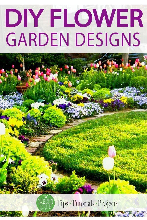 Diy Flower Garden Designs Garden Lovin Flower Garden Design Gardening Design Diy Garden Design