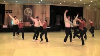 """Awesome Lindy Hop Swing Dance performance by """"Swinging Air Force"""". Includes luggage props and lots of tossing:)"""