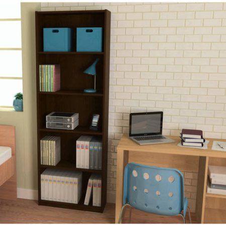 Ameriwood 5-Shelf Bookcase, Multiple Colors