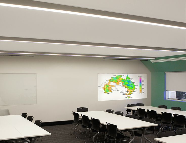 Tubular Lighting Application in a Education Classroomusing AUS 80 Greenstar LED Square from Austube Tubular Lighting Systems. #lighting #tubularlightingapplications #austube