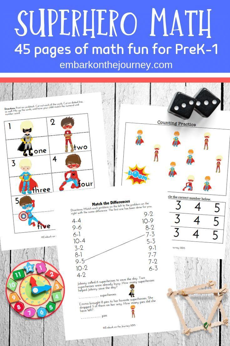 Early Learning Printable Superhero Math Activities Superhero Math Activities Superhero Math Math Activities Preschool [ 1102 x 735 Pixel ]