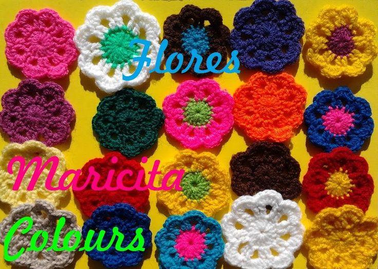 """Crochet Tutorial - Ganchillo, Bella flor simple """"Sienna"""", Paso a paso, super fácil para principiantes, explicada en tan solo 8 Minutos!!! los Puntos que usam...24"""