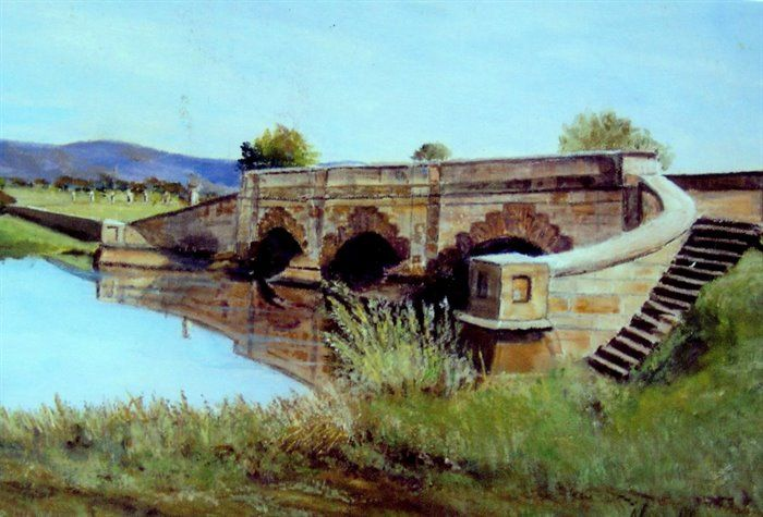 Ross Bridge.  In the Midlands of Tasmania by Nyra Aherne