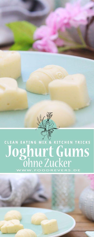 Zuckerfreie Joghurt Gums mit Früchten – Clean Eating Snack ohne Zucker