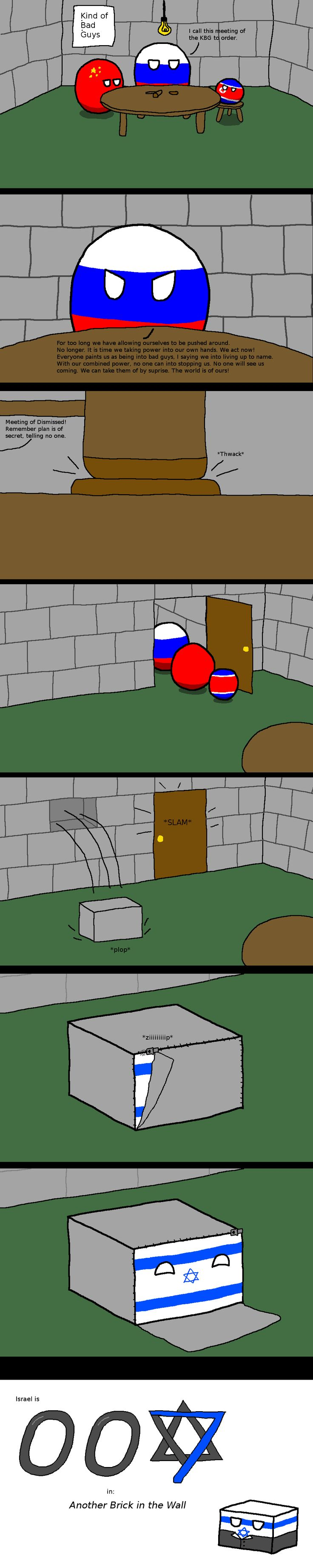 """The Perfect Disguise"" ( Russia, China, North Korea, Israel ) by the xfiles 81 #polandball #countryball #flagball"