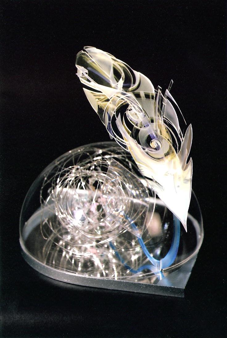 WIND WRITTEN HOUR Sculpture. PMMA, filters. 20x20x20cm 2007
