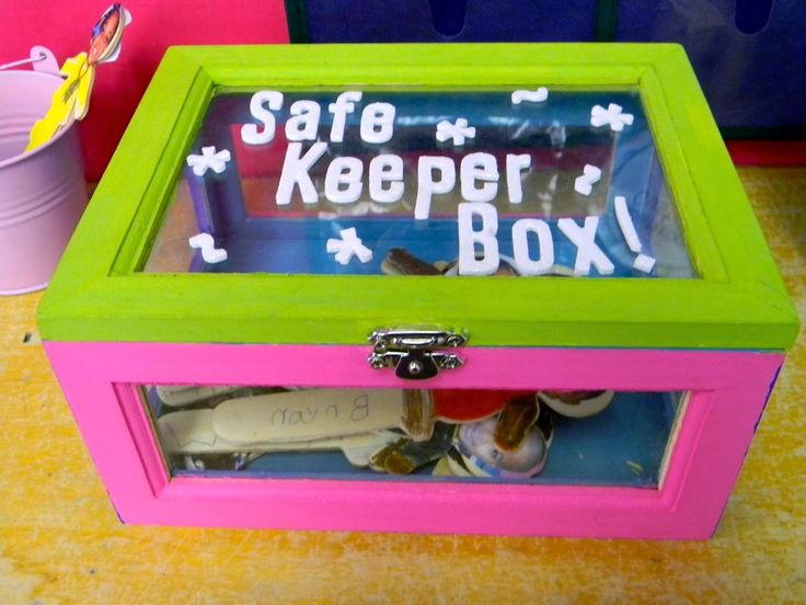 Safe Keeper Box. I love that she uses Popsicle stick people with students' faces on them.