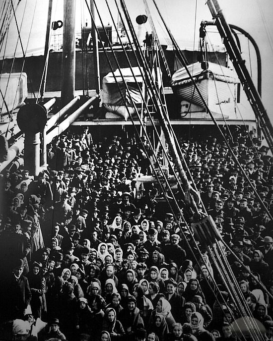 Ellis Island Immigrants | Ellis Island Arriving Boat Packed by TravelPod Member Stevewall ...