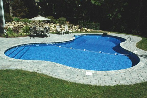 Lagoon Swimming Pool Designs: Aqua Palace In-Ground Vinyl Liner Pools