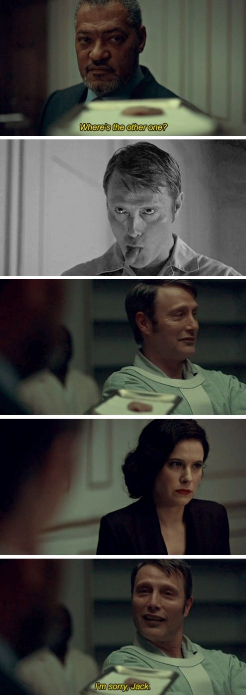 Hannibal the Cannibal. Hannibal 3x12 The Number of the Beast Is 666. Source: granpappy-winchester.tumblr