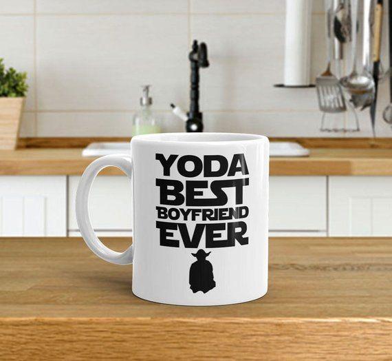 Boyfriend Mug, Yoda Best Boyfriend Ever Mug, Birthday Gift For Boyfriend, Funny Coffee Mug, Valentin