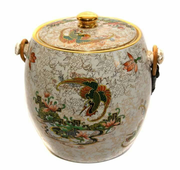 The English company Thomas Forester & Sons Phoenix Ware had been in operation since the late 19th century but WWII, when production was sparse, combined with the Clean Air Act in 1954, which stopped the use of bottle ovens, had the company stop production.   1. Art Deco Large Thomas Forester & Sons Phoenix Ware ginger jar in the Syrian design  2.  Thomas Forester & Sons Art Nouveau jardiniere and pedestal  3.  Pair of T. Forester & Sons Pitchers c. 1900  4. 1920s Thomas Forester Phoenix Ware…