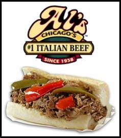 Al's Italian beef ~ easy on the onions, pile on the peppers, au jus!