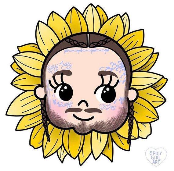 Post Malone Flower Boy Sunflower Sticker