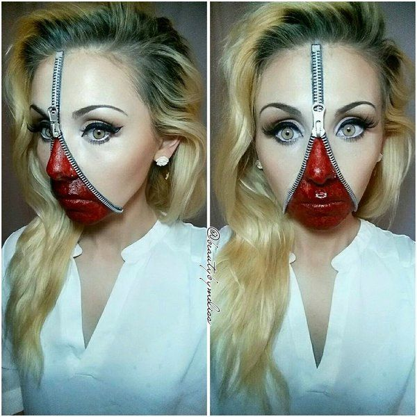 Zipper Face Makeup
