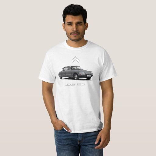 Gray Citroën DS 23 - white top - silver badges DIY  #citroends #citroen #automobile #classic #car #tshirt #gray