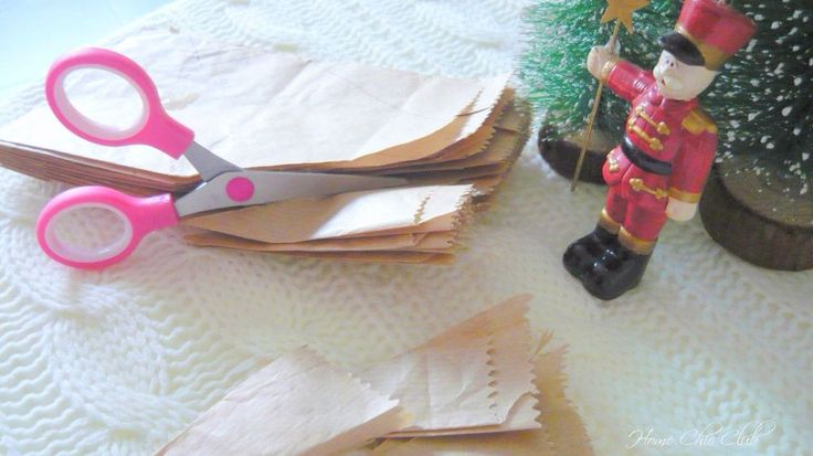 She cuts up a paper bag and 5 minutes later? Everyone is going to copy this