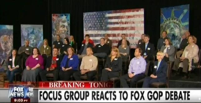 """Shameful,"" ""Disgusting,"" ""Despicable"" - Fox News Focus Group Slams Fox News Debate http://mm4a.org/21bsgwh"