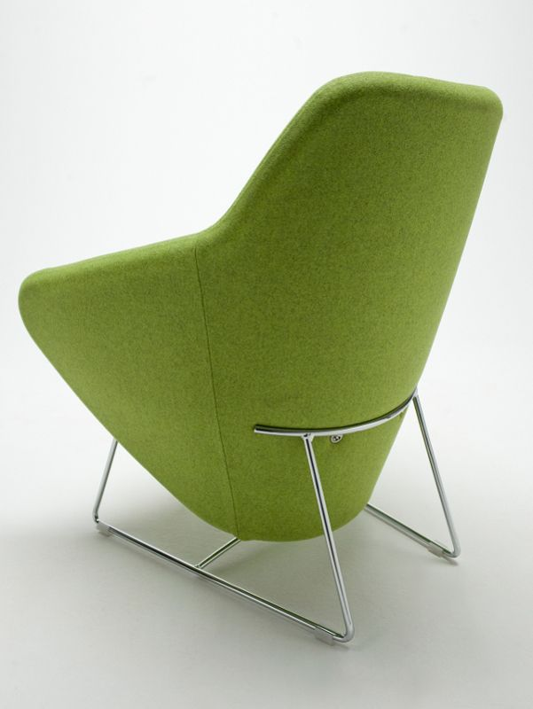SLED BASE ARMCHAIR WITH ARMRESTS TAXIDO TAXIDO COLLECTION BY SEGIS | DESIGN CARLO BIMBI