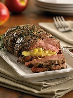 Roasted Leg of Lamb Stuffed with Ontario Apple and Rosemary   onapples.com
