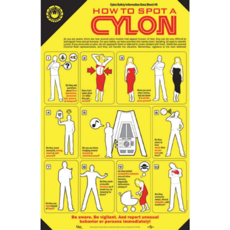 How To Spot a Cylon Poster - 24h delivery | getDigital