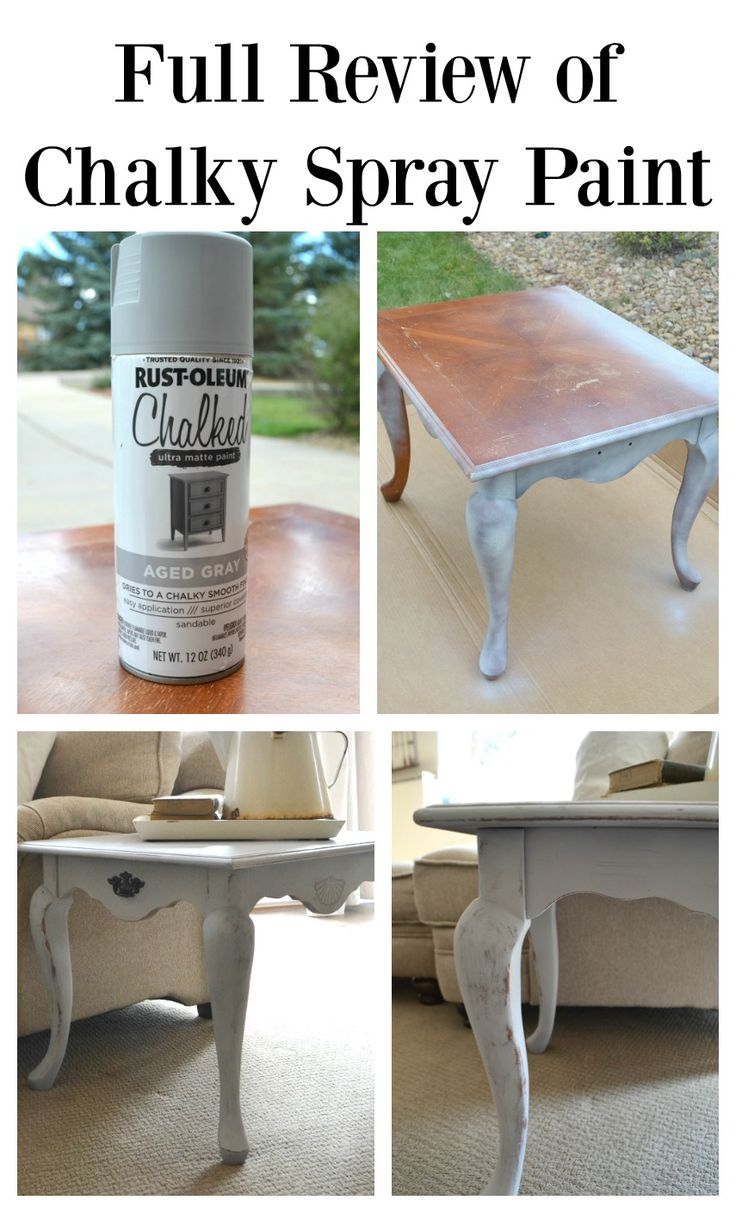Full Review of Chalky Spray Paint and comparison with chalk paint. Great tutorial on how to paint furniture with chalky spray paint.