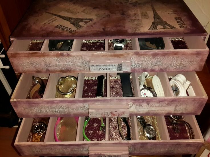 30 best images about cajas de relojes on pinterest - Cajas de plastico para almacenar ...