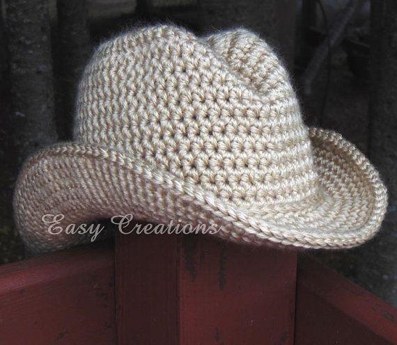 CROCHET PATTERn DOUBLE STRANd Cowboy Cowgirl Hat Cap ...