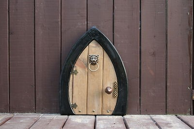 Large fairy door elf door gnome door faerie door w key for The faerie door