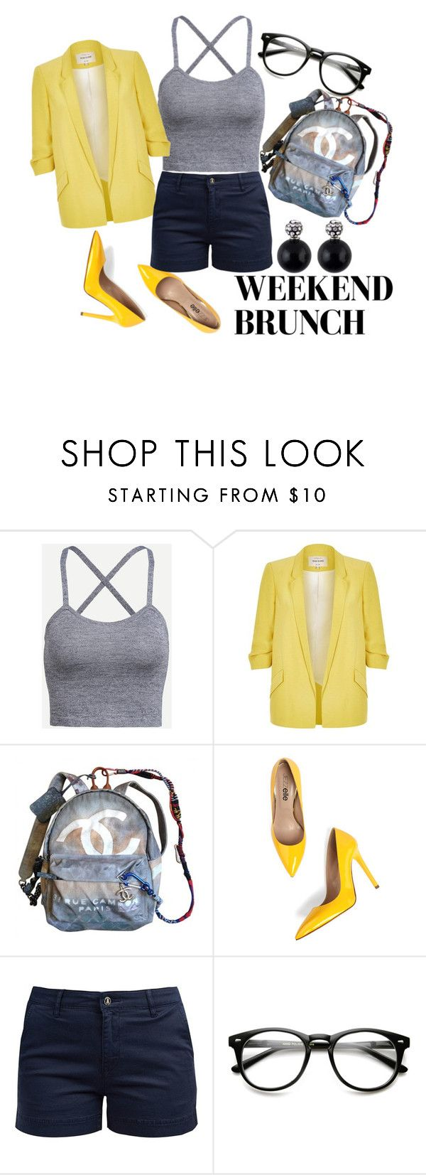 """CRAZY 8"" by vladona ❤ liked on Polyvore featuring River Island, Chanel and Barbour"