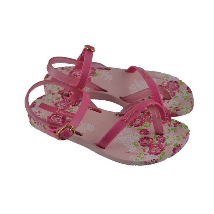 Chanclas-playeras todas de goma, perfectas para playa y piscina, con pulsera que sujeta el pie y tira de entrededo de la marca brasilera IPANEMA.