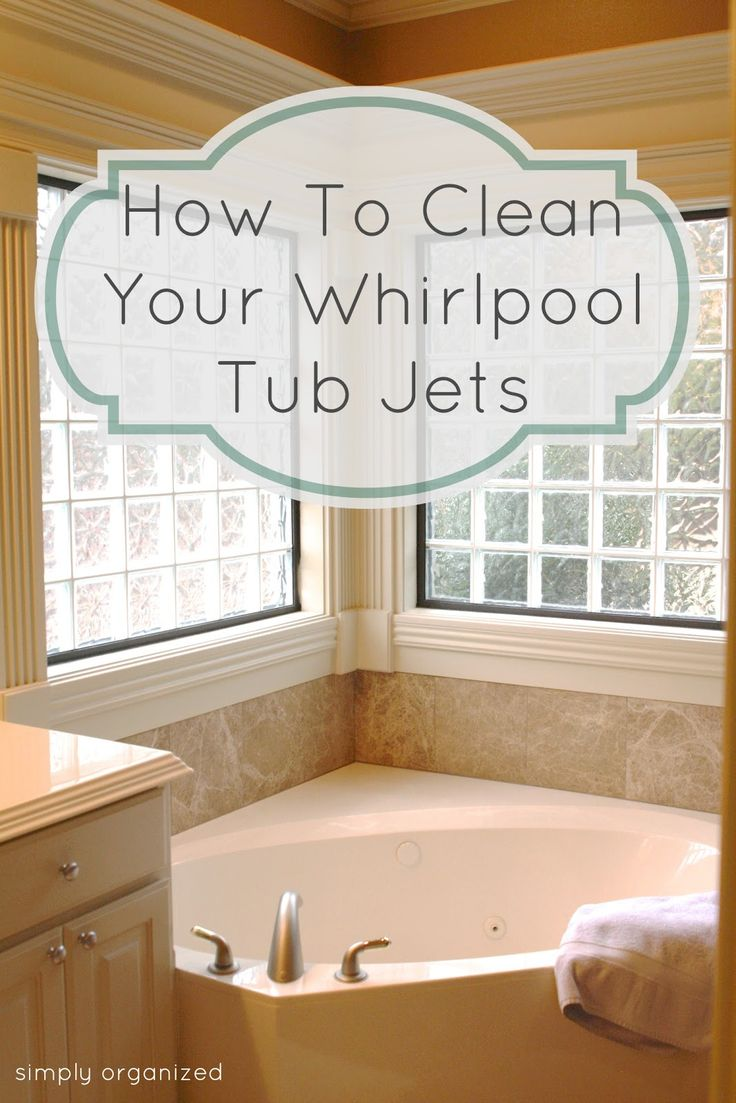 Our new home has a whirlpool tub and the jets are