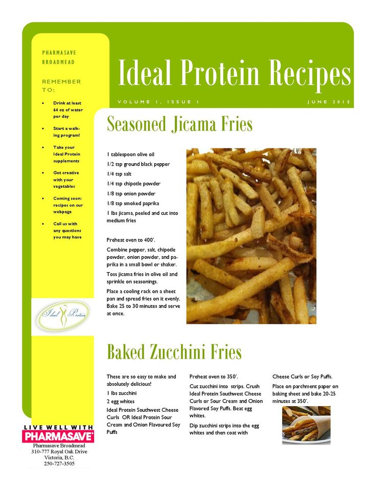Broadmead Recipes Week 1   Ideal Protein Phase 1 and 2