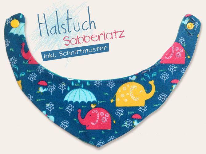 Lybstes.de Sabbertuch, Lätzchen, Halstuch für Babys, Tutorial inkl. Schnittmuster, Freebook