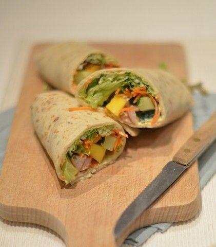 Koken op de Camping: Kip-Mango Wrap - chicken mango tortilla wrap