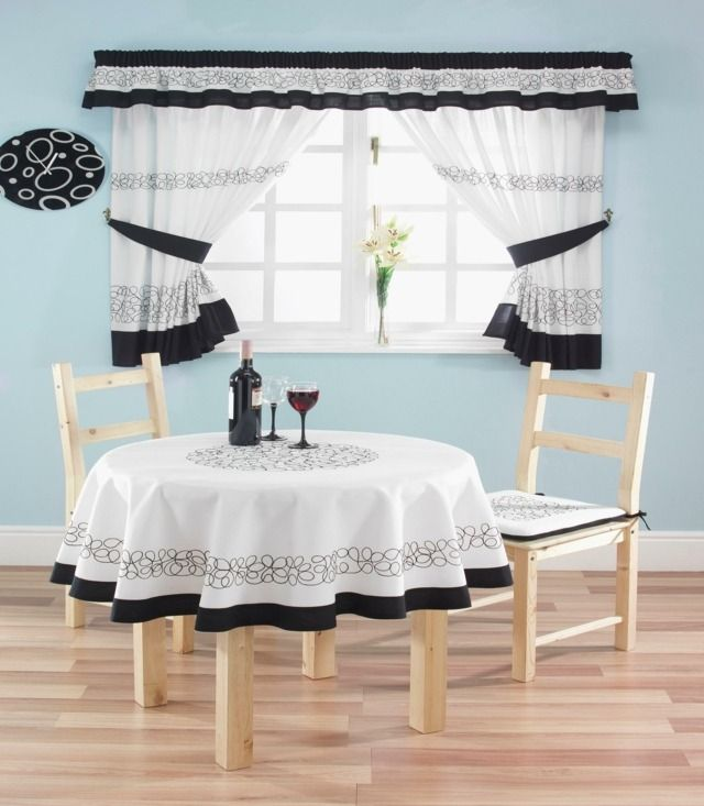 Modern Sunflower Kitchen Curtains