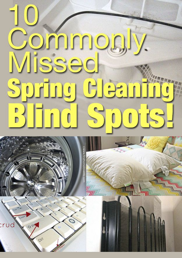 Make sure you don't miss these commonly overlooked spots during your spring cleaning spree! We found all the best cleaning tips from our own avid Hometalkers to make sure your spring cleaning checklist covers everything!