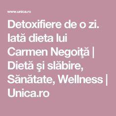Detoxifiere de o zi. Iată dieta lui Carmen Negoiţă | Dietă şi slăbire, Sănătate, Wellness | Unica.ro