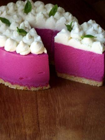 Rosa cheesecake