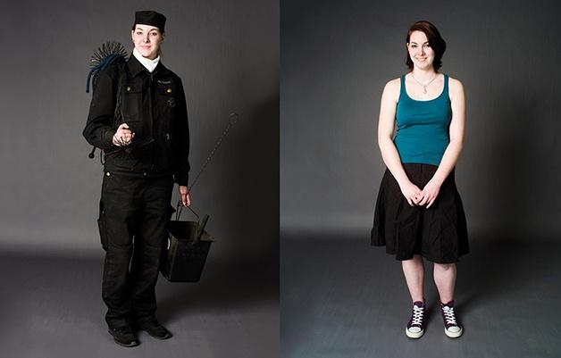 """Projeto """"Kleider Machen Leute"""" (""""A Roupa Faz o Homem""""), de Herlinde Koelbl reúne 70 fotografias de pessoas com e sem o uniforme de trabalho. #Photography #Clothes"""