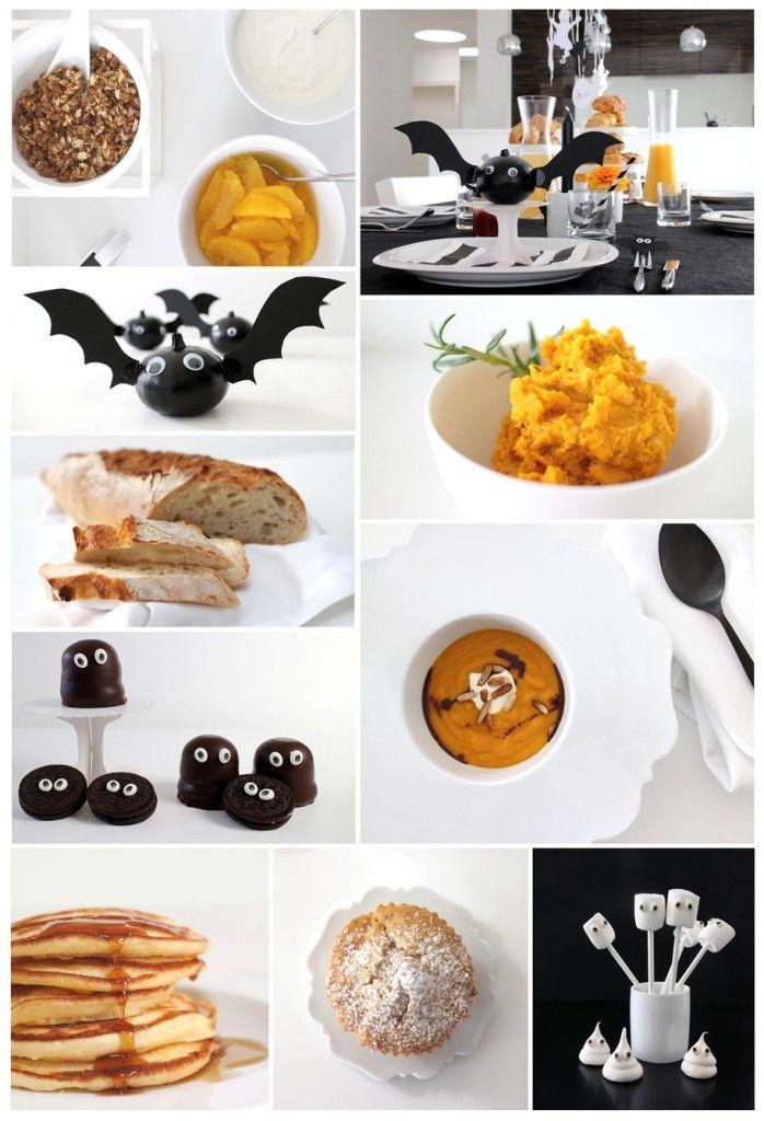 Halloween Brunch Rezepte und Dekoration